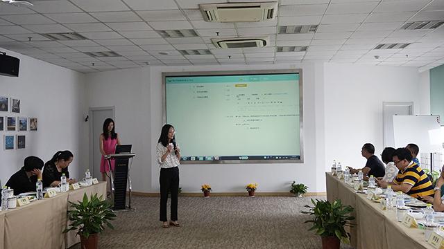 焦点教育经理张秋云介绍智慧校园整体解决方案