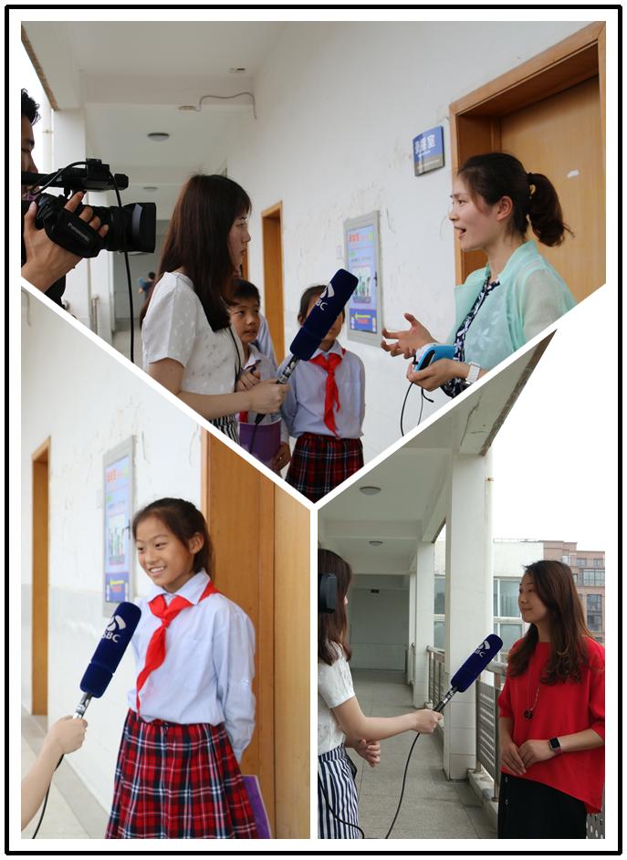 接受江苏省教育电视台采访